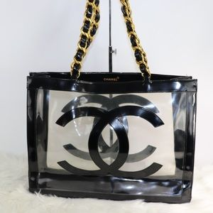 💎EXTRA LARGE💎 Chanel tote bag clear